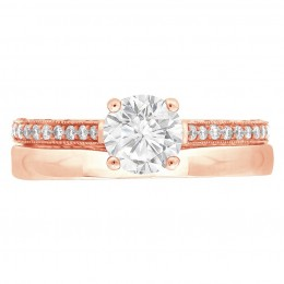 Sydney 4 rose gold engagement ring
