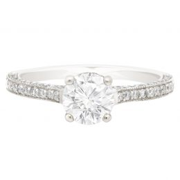 Thin Band Solitaire Engagement Ring (Gemma)
