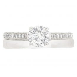 Thin Band Solitaire Engagement Ring (Gemma 4)