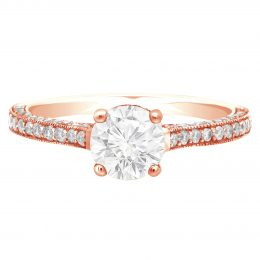 Thin Band Solitaire Engagement Ring rose gold (gemma)