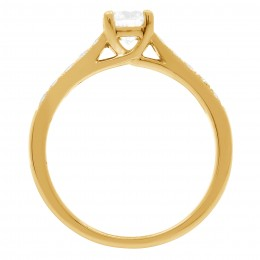 Milgrain Engagement Ring Yellow Gold (Tori 2)