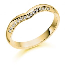 Unique Curved Wedding Ring (yellow gold)