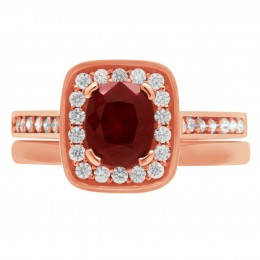 Ruby Diamond Ring - Vivian rose gold 4