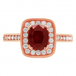 Ruby Diamond Ring - Vivian rose gold 1
