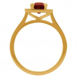 Ruby Diamond Ring - Vivian Yellow gold 2