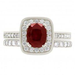 Ruby Diamond Ring - vivian 5