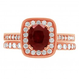 Ruby Diamond Ring - Vivian rose gold 5