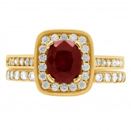 Ruby Diamond Ring - Vivian Yellow gold 5