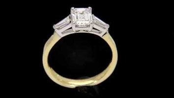 "Loyes Diamonds – Engagement Rings Dublin ""Elizabeth"" Emerald Cut Diamond Engagement Ring"