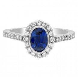 Shelley oval sapphire engagement ring