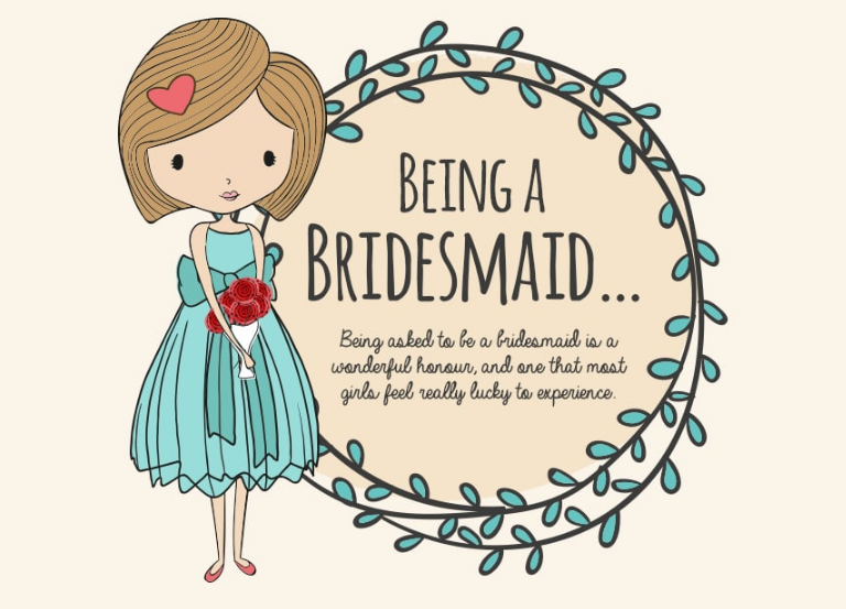 Being a Bridesmaid Infographic