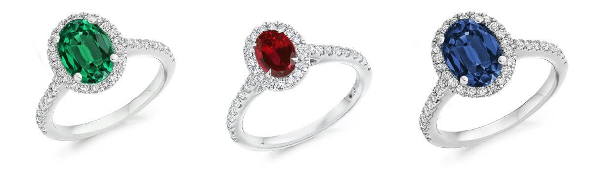 Coloured Stone Engagement Rings versus Diamond Engagement Rings