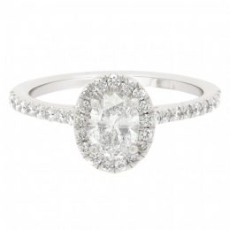 fancy-shape engagement rings - oval