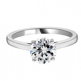 Zoe solitaire engagement ring