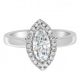 Clara marquise cut engagement ring