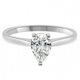 Ella pear cut engagement ring