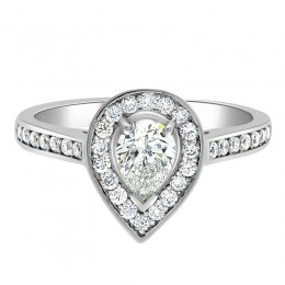 Mia pear cut diamond ring