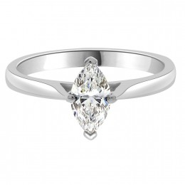Marquise engagement ring AVA in platinum or White Gold