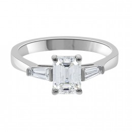 Elizabeth emerald cut diamond