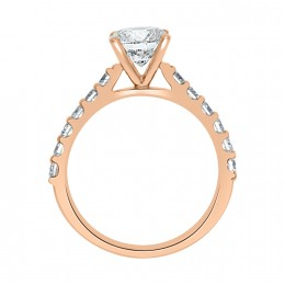 Solitaire With Diamond Band rose gold (katy 2)