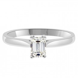 Jane emerald cut diamond ring