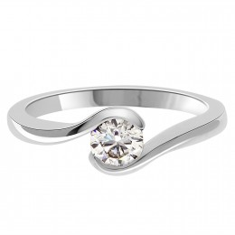 Twist engagement ring Sofia in platinum or white gold