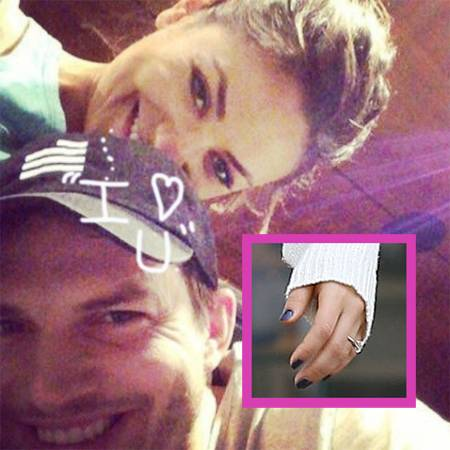 Mila Kunis Is Engaged to Ashton Kutcher: Check Out Her Diamond