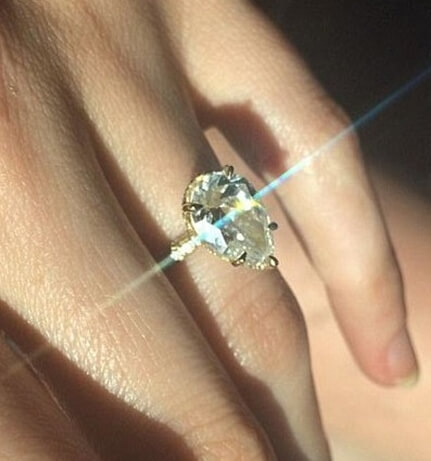 Supermodel Nicole Trunfio Showcases 3 Carat Sparkler.