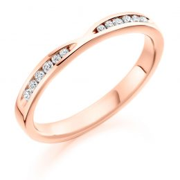 notched wedding ring (rose gold)