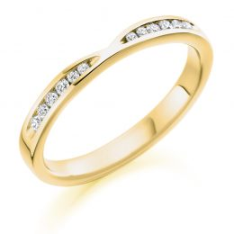notched wedding ring (yellow gold)
