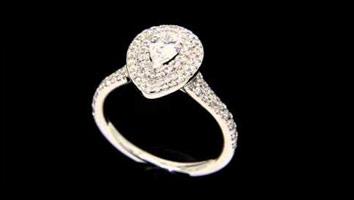 """Solase Pear"" Pear Shaped Diamond Engagement RIng"