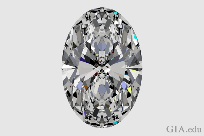 Perfectly Cut Oval Diamond