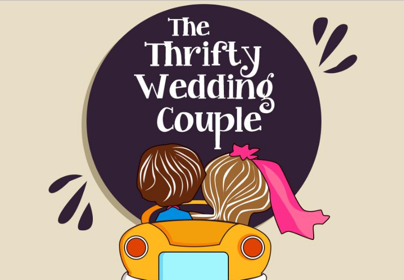 Thrifty wedding couple