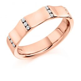 unusual men's wedding ring rose gold