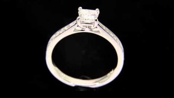 """Polly (Princess)"" Diamond Engagement Ring"