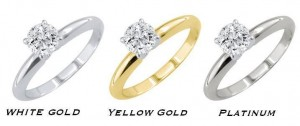 white gold yellow gold platinum