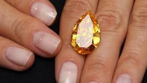 Worlds largest orange diamond.