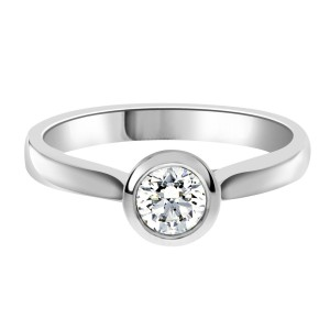 Laura engagement ring with rub over setting