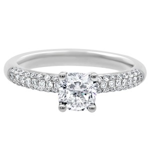 Amelia Engagement Ring with micro pave