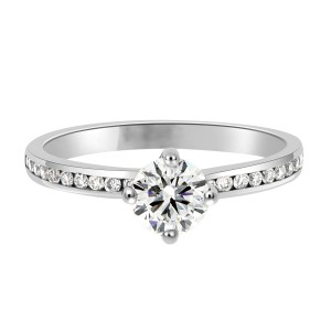 Chloe engagement ring channel set