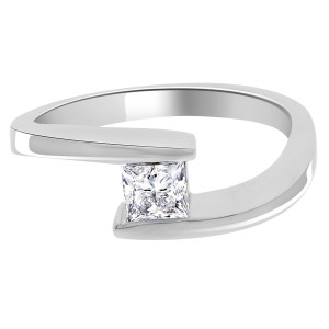 Nessa engagement ring with a tension setting