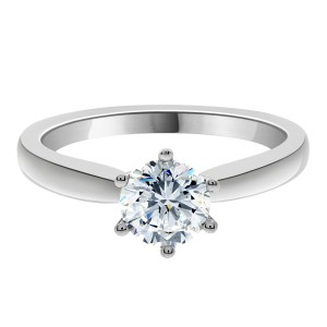 Zara engagement ring with claw setting