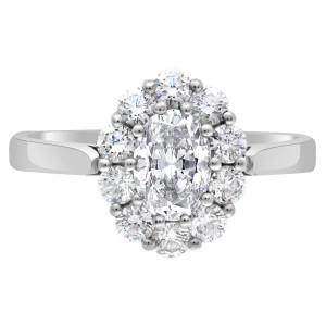 bridget engagement ring with a cluster setting