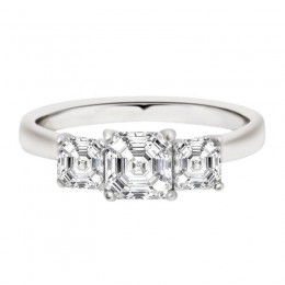 Aisling - Three Stone Asscher Engagement Ring