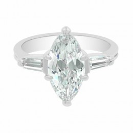 Anastasia - Marquise Diamond Tapered Baguette Engagement Ring