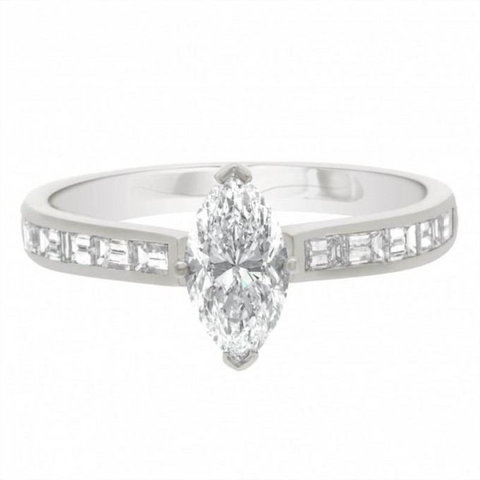 Ava (DS)  - Marquise Diamond Ring