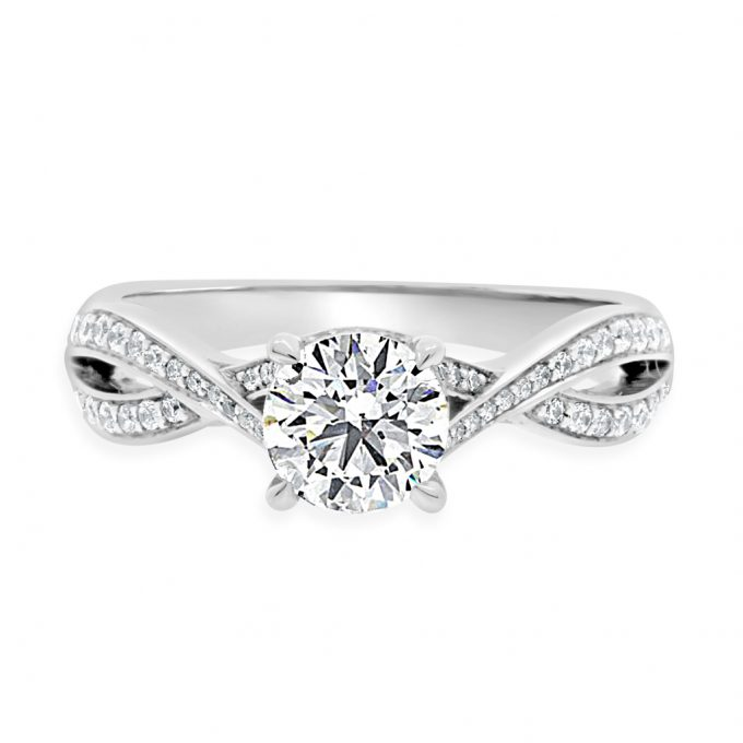 Betsey - Twisted Band Engagement Ring