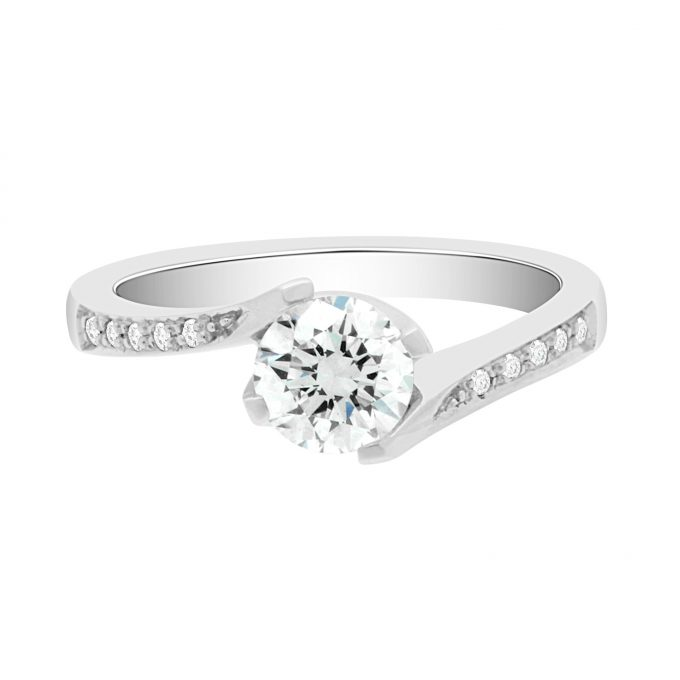 Tess (DS)  - Four Claw Twist Engagement Ring