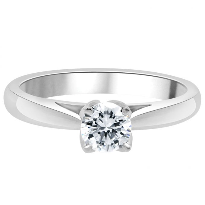 Ada - half carat round brilliant cut engagement ring