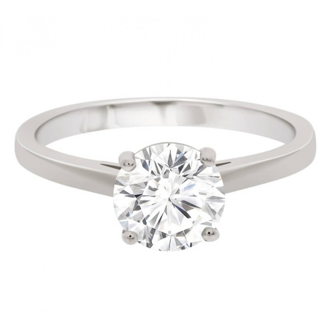 Zoe - 1.20 carat Four Claw Engagement Ring